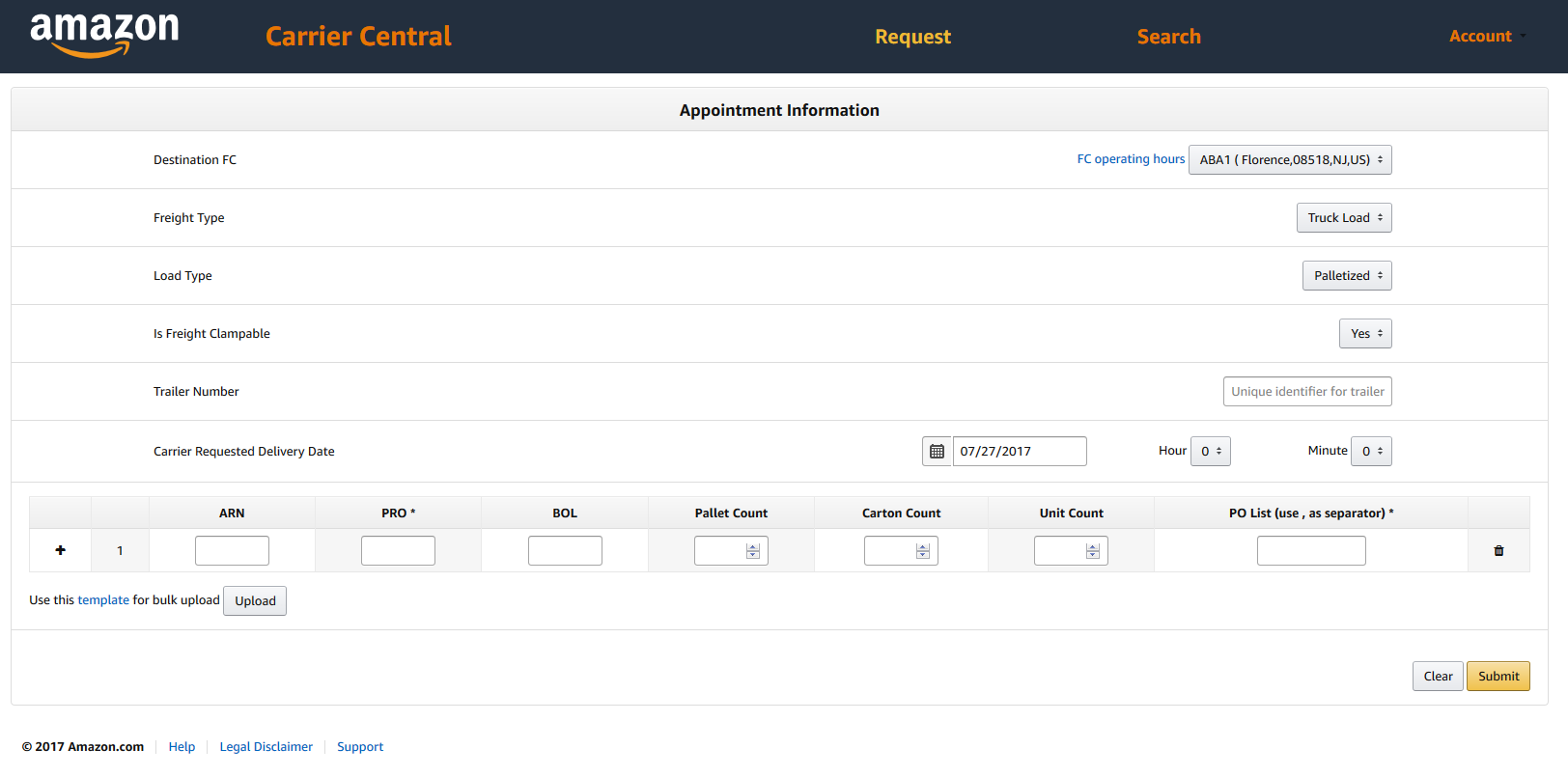 amazon fba appointment scheduling