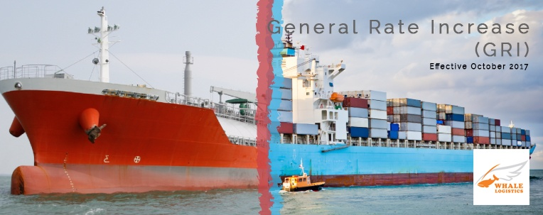 Ocean Freight News - SE Asia General Rate Increase (October 2017)